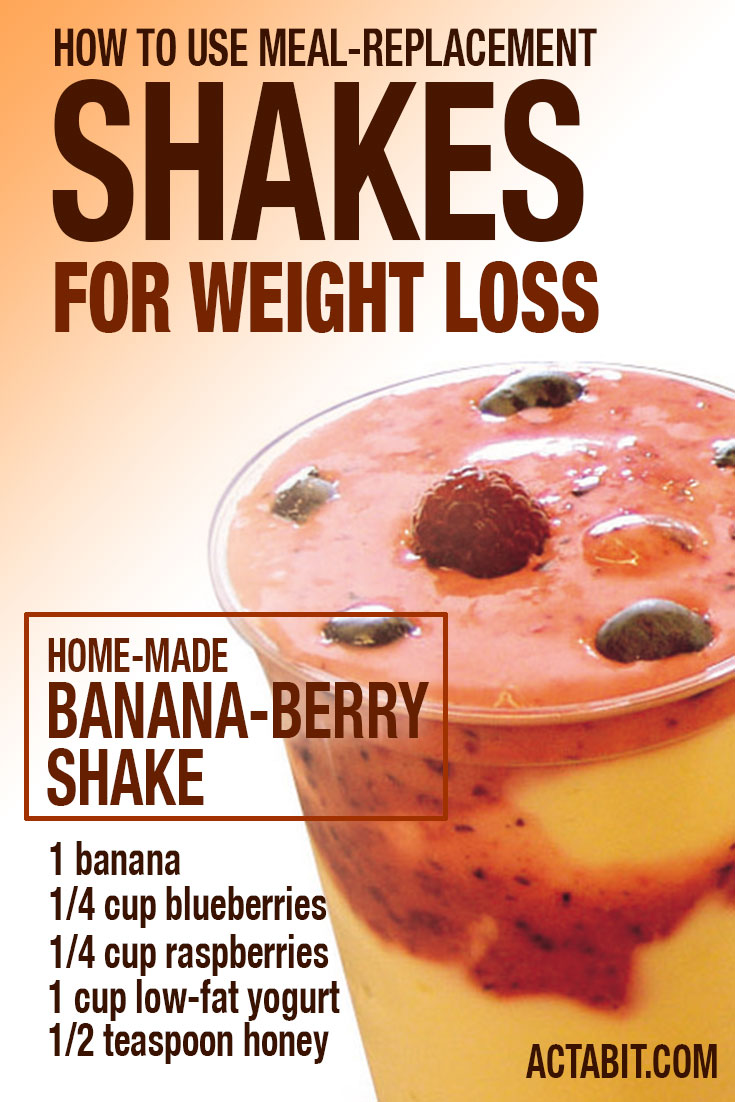 How to use meal-replacement shakes for weight loss