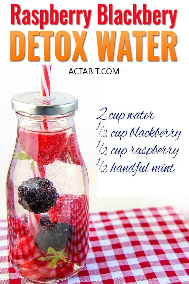 Raspberry and Blackberry Detox Water