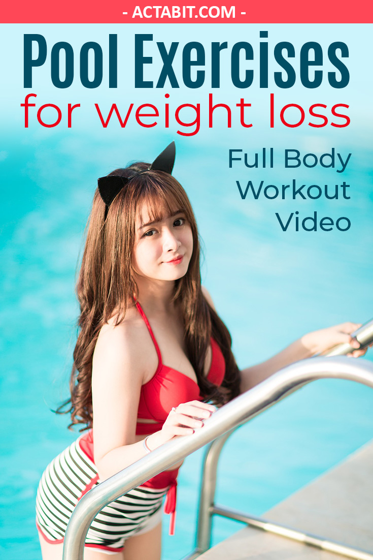 Pool Exercises for Weight Loss & Flat Abs: Full Body Workout for Obese