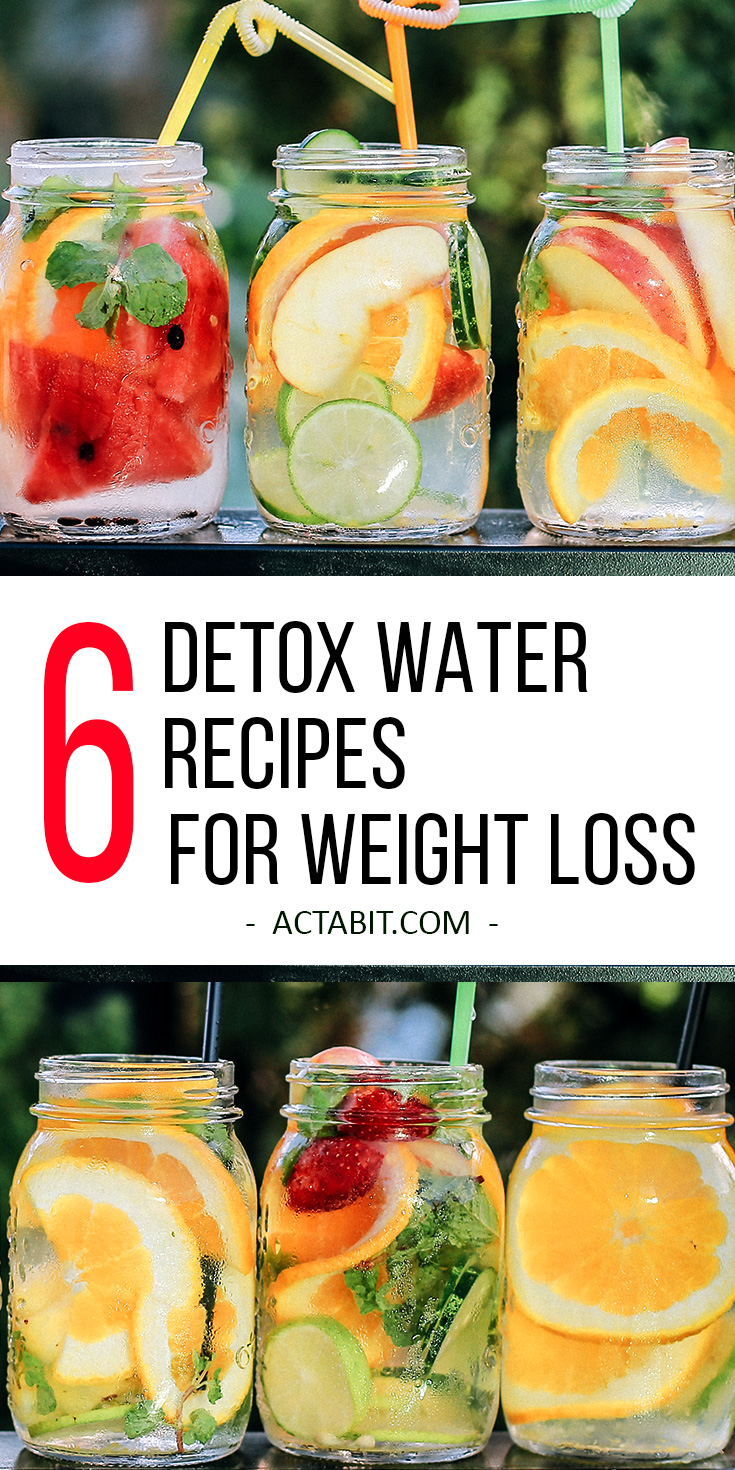 6 Detox Water Recipes for Weight Loss and Clear Skin