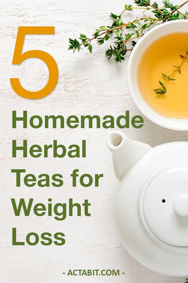 5 Homemade Herbal Teas for Weight Loss & Detox